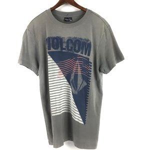 Volcom Medium Dusty Gray T w/ Large Volcom Design